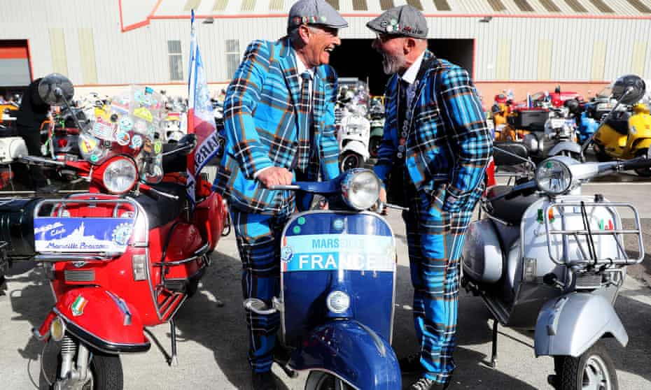 Enthusiasts gather for Vespa World Day 2018 in Belfast.