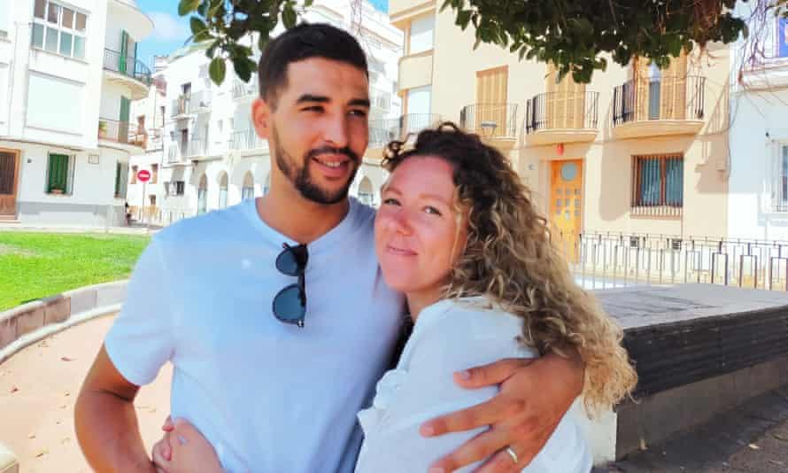 Olivia Hughes and her husband Abdel