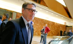 Former Texas governor Rick Perry at Trump Tower in November.