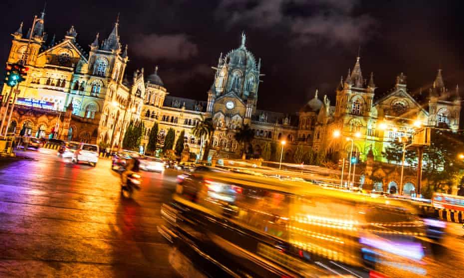 Central Mumbai at night.