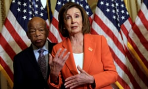 Nancy Pelosi said: 'We are protecting families because families belong together.'