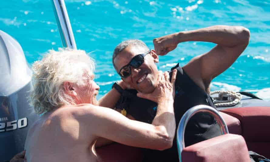 Barack Obama and Richard Branson.