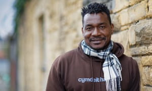 Joseff Gnagbo, originally from Ivory Coast, has been teaching Welsh to refugees in Cardiff, Wales, UK.