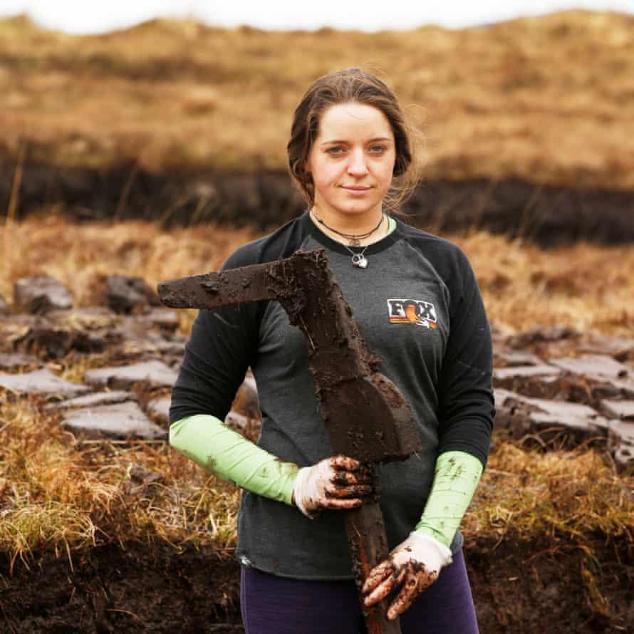 Julia MacLean, The MacLean family cut peat for fuel.