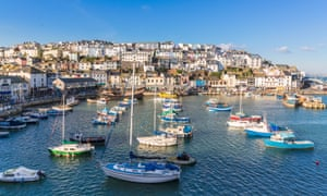 The fishing port of Brixham in Devon