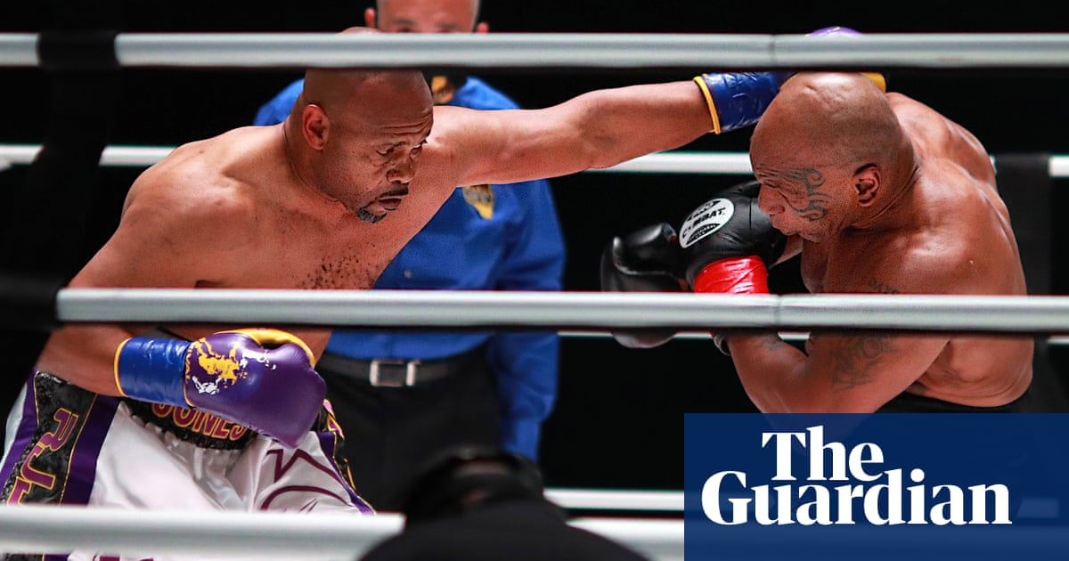Mike Tyson and Roy Jones Jr roll back years but boxing is no game at any age