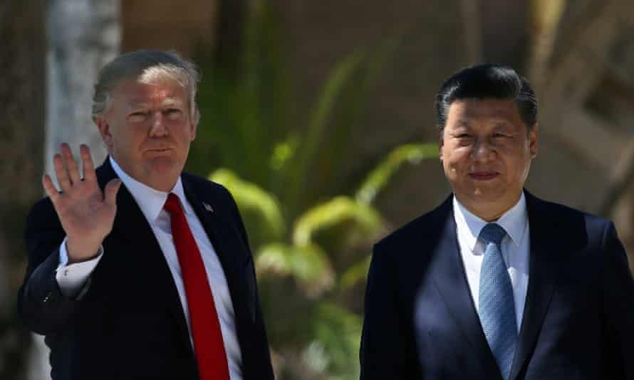 Donald Trump with China's president Xi Jinping.