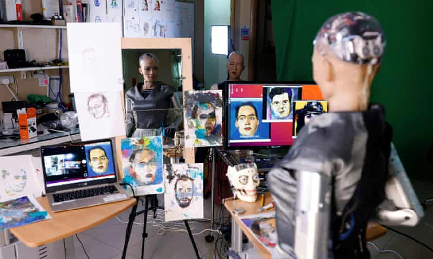 Even a robot can do it: Sophia the robot auctioned off her own non-fungible token (NFT) artwork on 16 March.