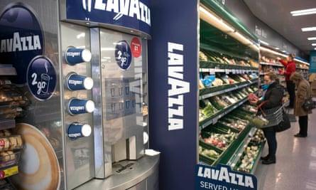 A Lavazza coffee machine at Iceland?