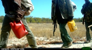 Poachers in Limpopo national park caught by a camera trap going east.