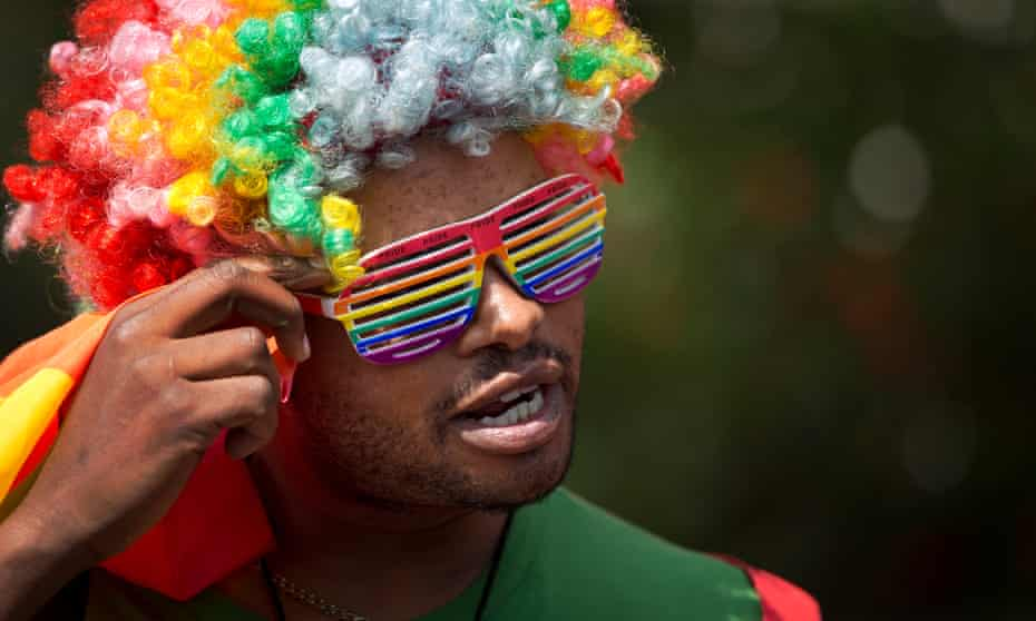 Kenyan gays and lesbians protested Uganda's stance on LGBT rights in 2014.