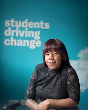 Shakira Martin, president of the NUS, at their headquarters in central London.