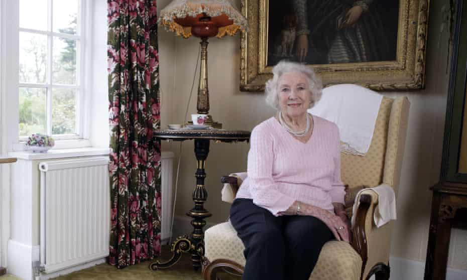 Dame Vera Lynn at home in Sussex.