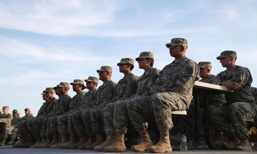 US troops in Kuwait.
