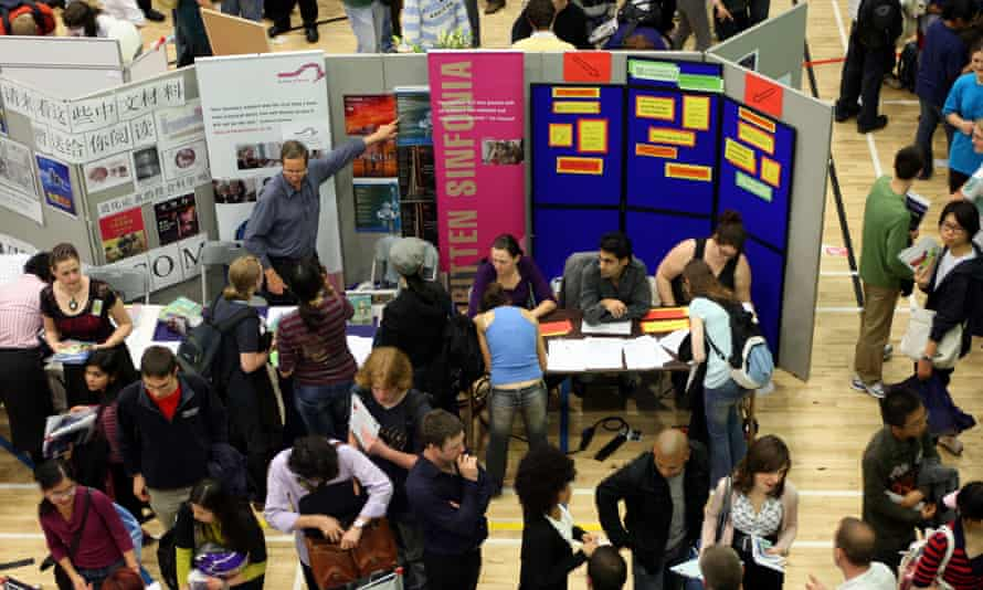 Cambridge University freshers fair: universities could soon face new restrictions on recruiting overseas students.