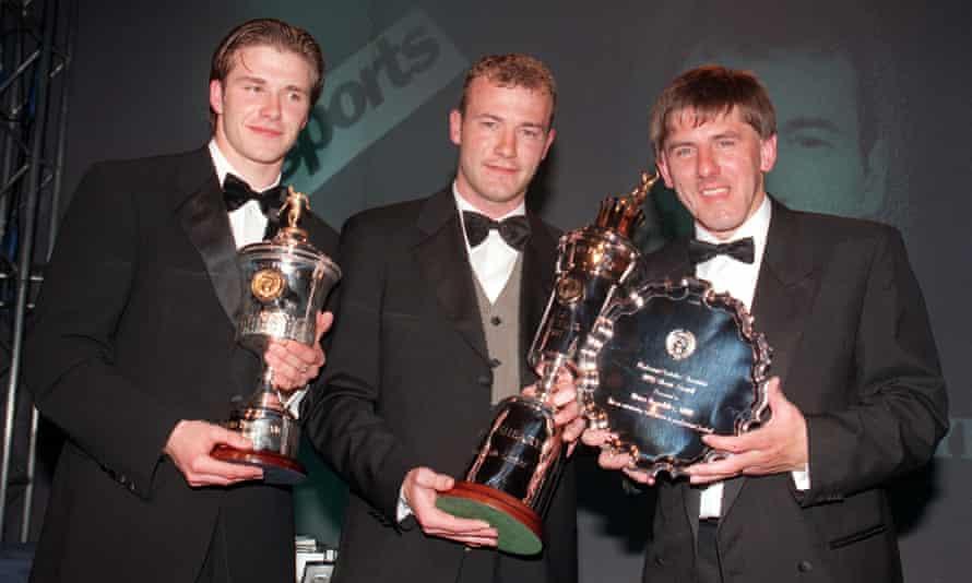 David Beckham, Alan Shearer and Peter Beardsley