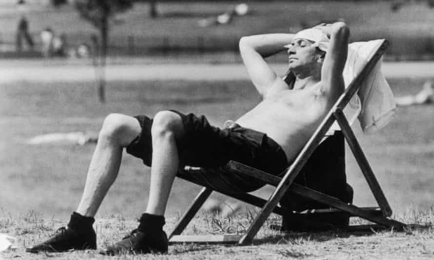 Sunbathing in Kensington Gardens, London, in June 1976