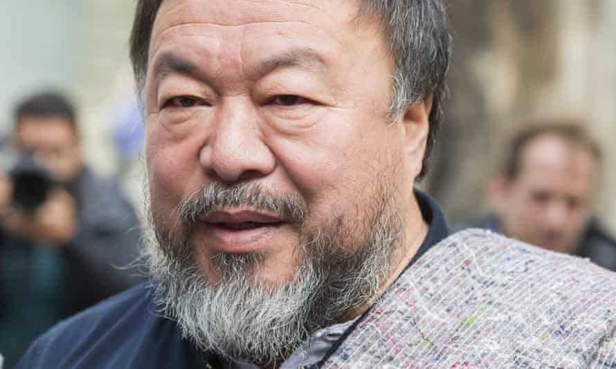 Ai Weiwei during his visit to London.