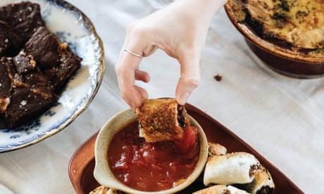 A three course, freezer-friendly vegetarian comfort food feast