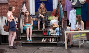 'I stayed home rationing episodes when I couldn't afford to leave my flat': left to right, Lena Dunham as Hannah, Zosia Mamet as Shoshanna, Jemima Kirke plays Jessa and Allison Williams as Marnie.