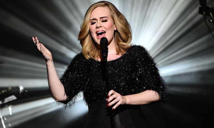 Adele performing in France in November 2015