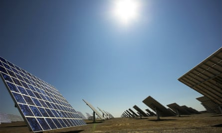 The solar power plant at Moura, Portugal, produces 45 MW of electricity each year, powering 30,000 homes
