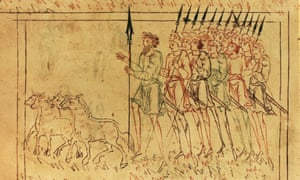 A miniature from the 10th-century Junius manuscript. The Anglo-Saxons from the 10th to the 12th century were the subject of one of James Campbell's seminal essays.