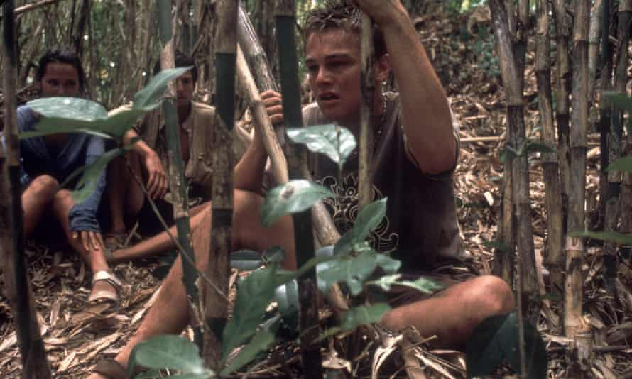 Leo in another forest in The Beach (2000).