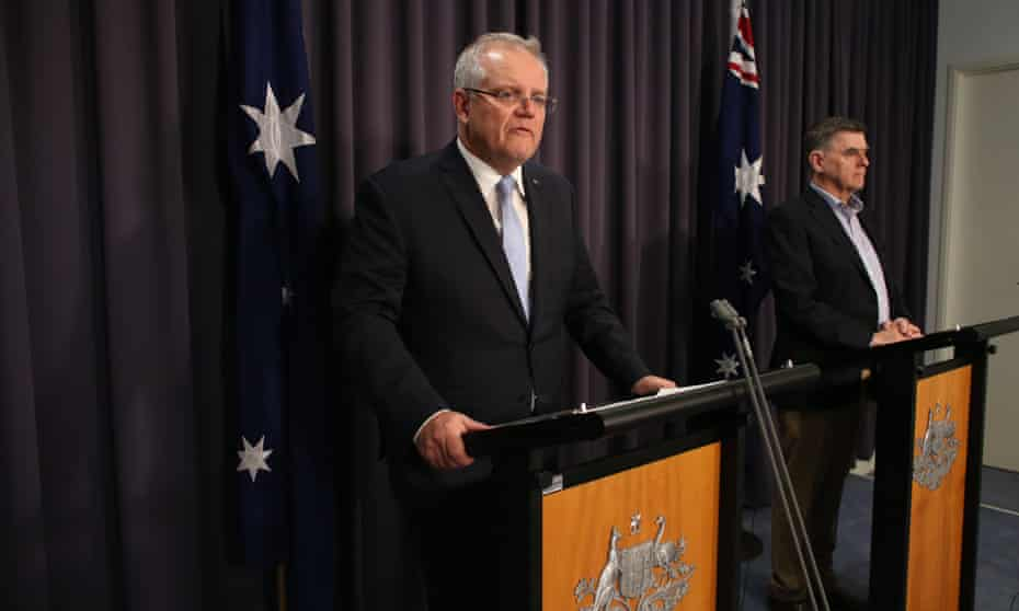 Scott Morrison and the chief medical officer Brendan Murphy announce further closures on Sunday evening.
