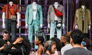 Shoppers outside a Topman store in London