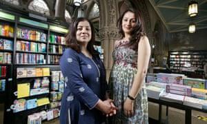Irna Qureshi (left) and Symia Aslam of Bradford literature festival.