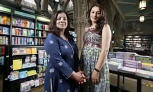 Festival founders Irna Qureshi (left) and Syima Aslam in a bookshop in Bradford.