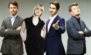 David Mitchell, Lauren Laverne, Jimmy Carr and Charlie Brooker.