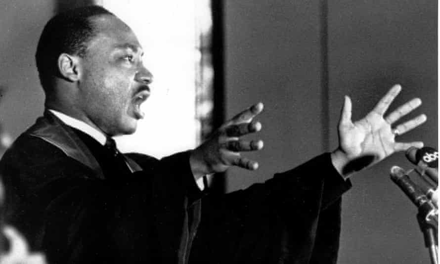 Martin Luther King speaking to his congregation at Ebenezer Baptist Church on 30 April 1967.