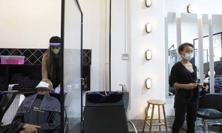 Nicky Oliver's hair salon.