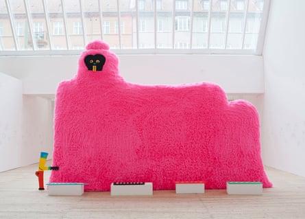 A big pink creature