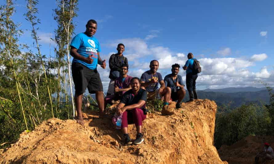 Dr Tabakei and some of her colleagues on the hike