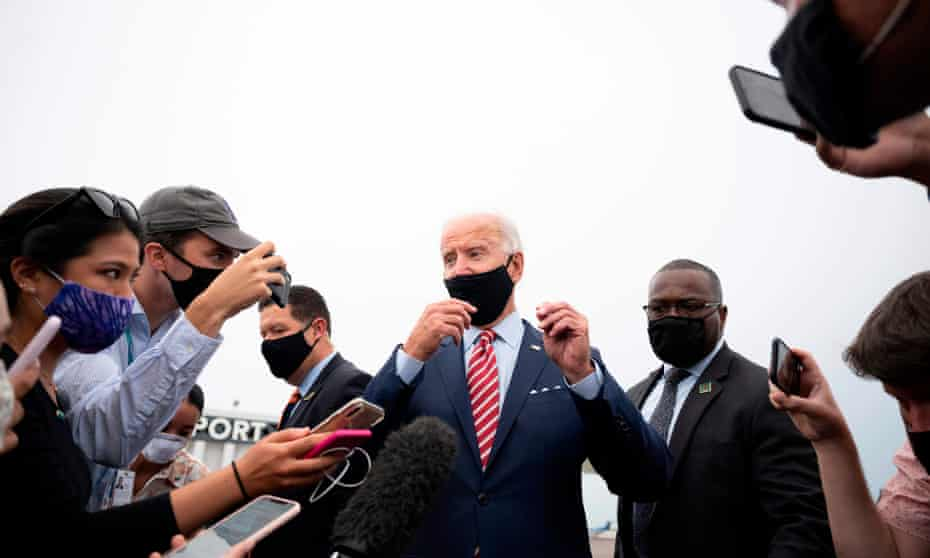Biden in Tampa on Tuesday. His campaign's effort will involve several other top Democratic voting rights and election law attorneys as well as Eric Holder, the former attorney general.