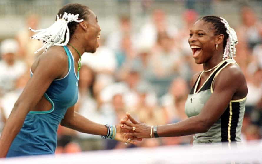 Serena and Venus Williams at the US Open in 1999.
