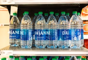 Bottles of Dasani water seen in a superstore.
