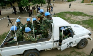UN peacekeepers from Bangladesh in Ivory Coast in 2005. Continued lucrative assignments with the UN are said to bolster the Bangladesh military's support for Hasina.