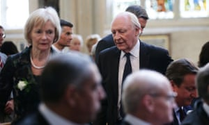 Neil and Glenys Kinnock attending a service of prayer and remembrance to commemorate Jo Cox MP at St Margaret's Church, London.