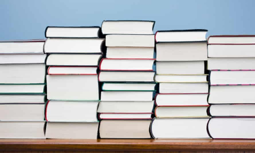 High competition … piles of books for consideration.