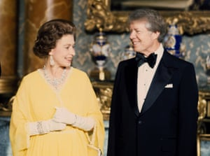 In 1977 she met Jimmy Carter at a state dinner at Buckingham palace in London