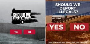 Trump campaign Facebook ads about immigration