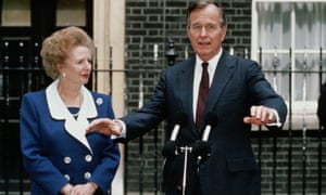 US President George H. W. Bush and British Prime Minister Margaret Thatcher