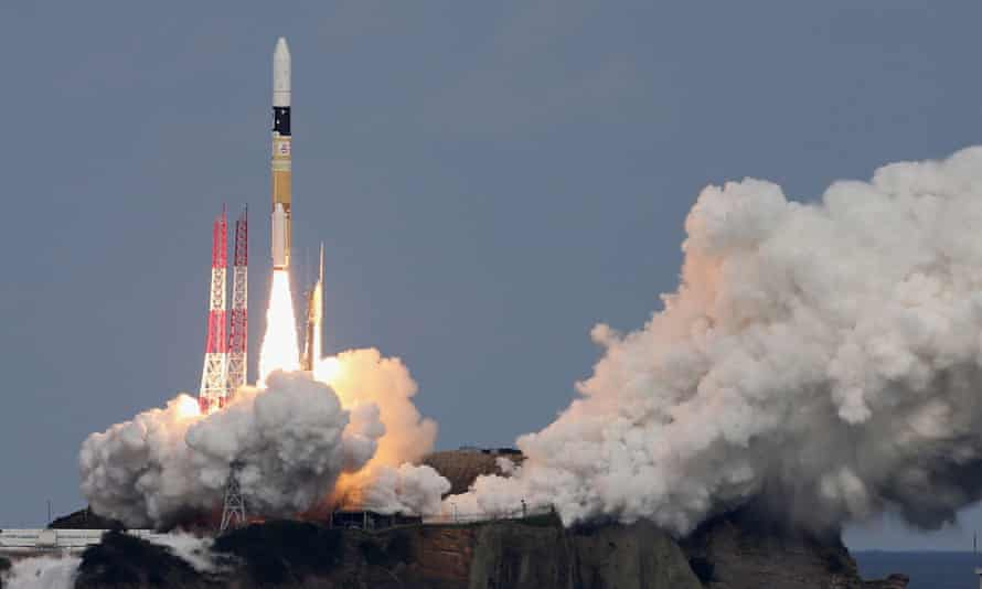 Japan's Hayabusa2 is launched into space in December 2014.