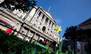 The Bank of England building on Threadneedle Street in the City of London.
