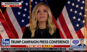 White House press secretary Kayleigh McEnany reiterated Trump's unfounded message that 'illegal votes' should be discounted.