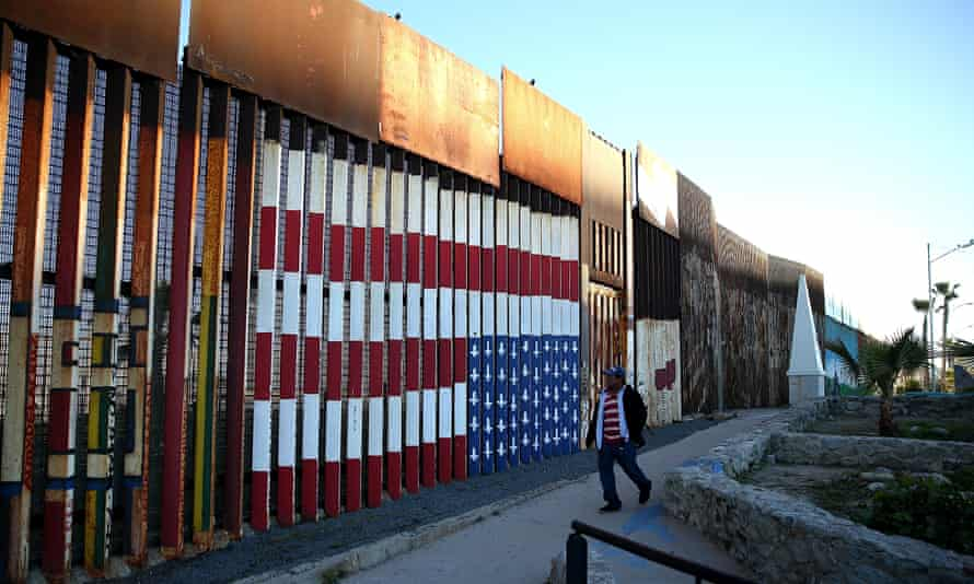 A view of the US-Mexican border fence from Tijuana, Mexico.